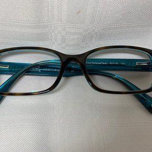 Coach Ladies Tortoise/Teal Eyeglasses
